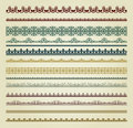 Set of vintage borders Royalty Free Stock Photography