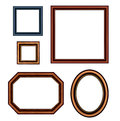 Set of vintage brown picture frames. Stock Image