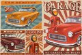 Set of Vintage Car Posters. Royalty Free Stock Photo