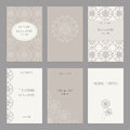 Set of of vintage cards  templates editable. Royalty Free Stock Photo