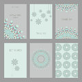 Set of vintage cards  templates  in ethnic style Royalty Free Stock Photo