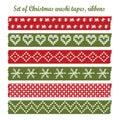 Set of vintage christmas washi tapes,