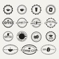 Set of vintage coffee logos Royalty Free Stock Photo