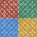 Set vintage color seamless patterns vector Stock Image