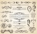 Set of Vintage Decorations Elements.Flourishes Calligraphic Ornaments and Frames with place for your text. Retro Style