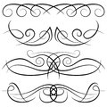 Set of vintage decorative curls, swirls, monograms and calligraphic borders