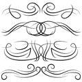 Set of vintage decorative curls, swirls, monograms and calligraphic borders