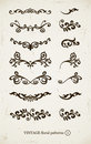 Set of vintage decorative patterns Stock Photos