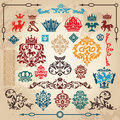 Set of vintage design elements Royalty Free Stock Photos