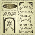 Set of vintage design elements Royalty Free Stock Images