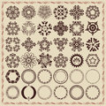 Set of vintage design elements and frames vector Stock Photography