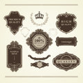 Set of vintage elements heraldry banners labels frames ribbons lots useful to embellish your layout Royalty Free Stock Images
