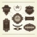 Set of vintage elements: heraldry, banners, labels, frames, ribbons