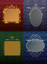 Set vintage frame Royalty Free Stock Photo