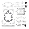 Set of vintage frames elements vector illustration Royalty Free Stock Photography