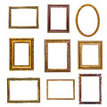 Set of vintage frames in retro style isolated on white background Royalty Free Stock Image