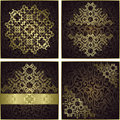 Set of vintage frames seamless floral background with a pattern can be used as invitations greeting cards raster Stock Image
