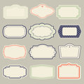 Set of vintage frames vector illustration Stock Photo