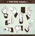 Set of vintage hands Royalty Free Stock Photos