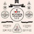 Set of vintage happy mothers day eps compatibility required Royalty Free Stock Image