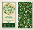 Set Of Vintage Happy St. Patrick's Day Greeting
