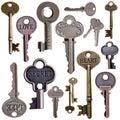 Set of vintage keys Royalty Free Stock Photo