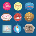 Set of vintage label design bakery beautiful graphic labels various forms Stock Photo