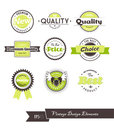 Set of vintage labels. Royalty Free Stock Photos