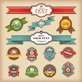 Set of vintage labels Royalty Free Stock Photo