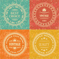 Set of Vintage Labels Royalty Free Stock Image