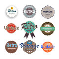Set of vintage labels vector Stock Photography