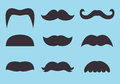 Set of vintage moustache Stock Image