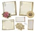 Set of vintage notepaper