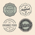 Set vintage organic labels vector eps illustration Stock Photo
