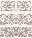 Set vintage ornate border frame filigree this is file of eps format Stock Photos