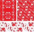 Set of vintage ornate seamless patterns in rococo style decor Royalty Free Stock Photography
