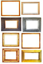 Set of vintage photo wood frame Stock Photography