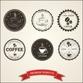 Set vintage retro coffee