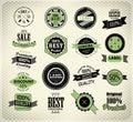 Set of vintage retro label