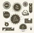 Set of vintage retro premium quality badges and labels Royalty Free Stock Photography