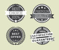 Set of vintage retro premium quality badges and labels Royalty Free Stock Image