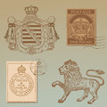 Set of Vintage Royalty Design Elements Royalty Free Stock Photo