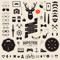 Set of vintage styled design hipster icons. Vector signs and symbols templates Royalty Free Stock Photo