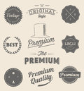 Set of Vintage styled design icons and banners
