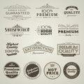 Set of vintage styled premium quality labels Royalty Free Stock Image