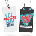 Set of Vintage Thank You Tags