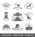 Set of vintage theatre labels Royalty Free Stock Photo