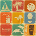 Set of vintage travel labels Royalty Free Stock Photo