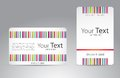 Set of visit cards for your business Royalty Free Stock Photo