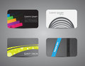 Set of Visiting cards. Stock Images